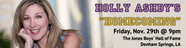 Header for Holly's Homecoming performance